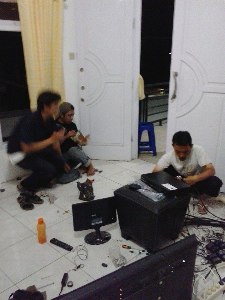Pemasangan CCTV di Melly Garment Majalaya Kab Bandung