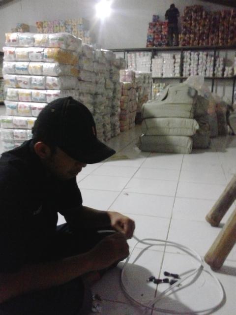 Pemasangan CCTV pada Gudang Baju Bayi dan Anak Majalaya Kab Bandung