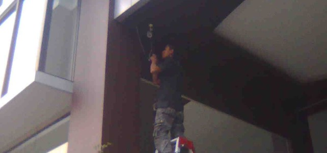 Pemasangan CCTV pada Hotel Grand Sofia Depan Station Bandung