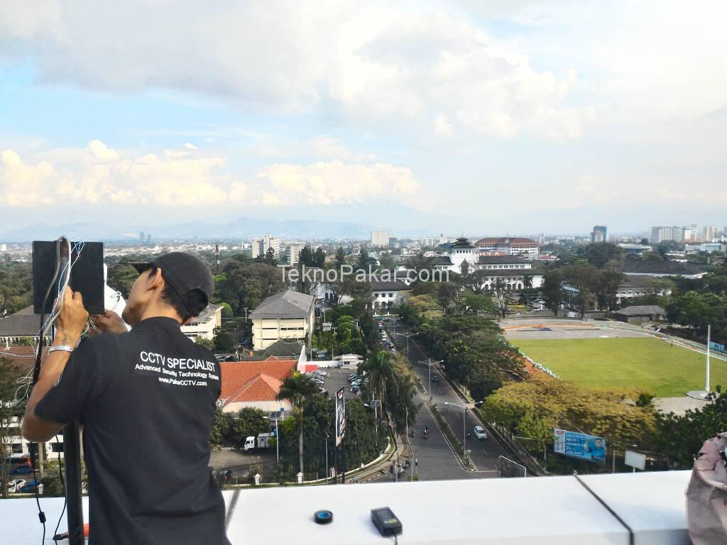 Pemasangan CCTV Gedung Telkom Gasibu Lantai 6 4 Channel Camera PTZ
