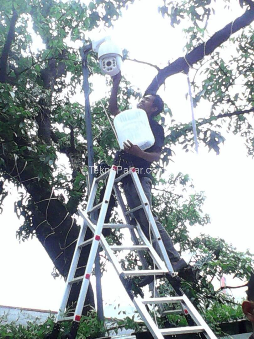 Pemasangan CCTV Sky Walk Cihapelas 8 Channel Camera PTZ